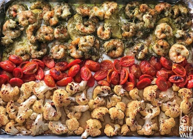 Keto Baked Pesto Shrimp