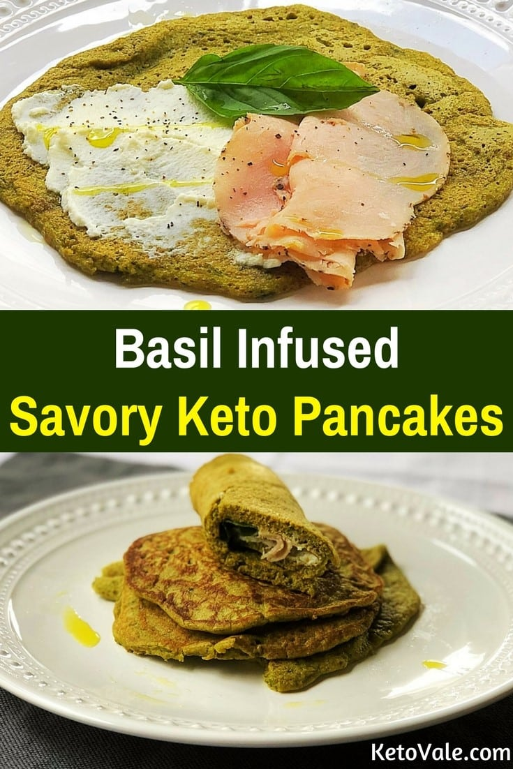 Keto Basil Infused Savory Pancakes Low Carb Recipe