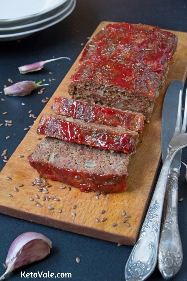 Keto Beef and Pork Meatloaf