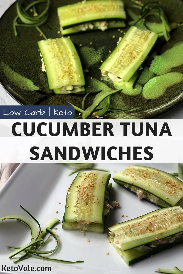 Keto Cucumber Tuna Sandwiches Low Carb Recipe