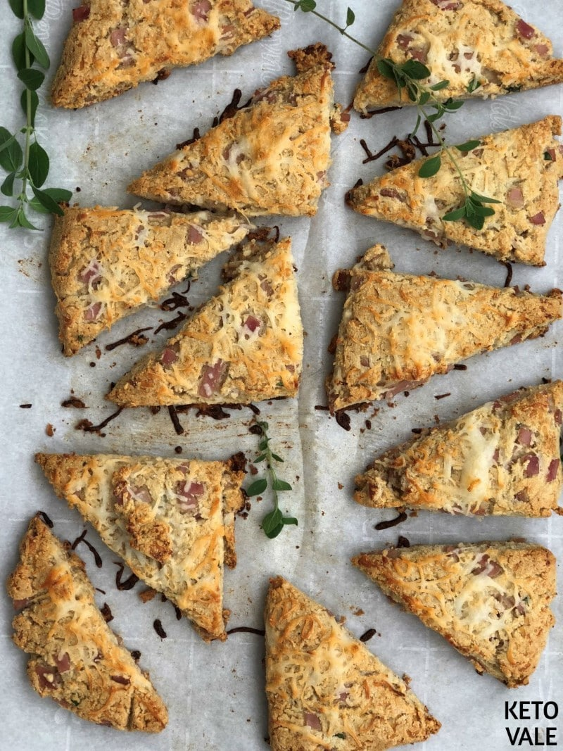Keto Ham and Cheese Savory Scones