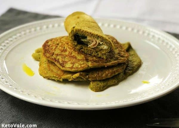 Keto savoury pancakes recipe