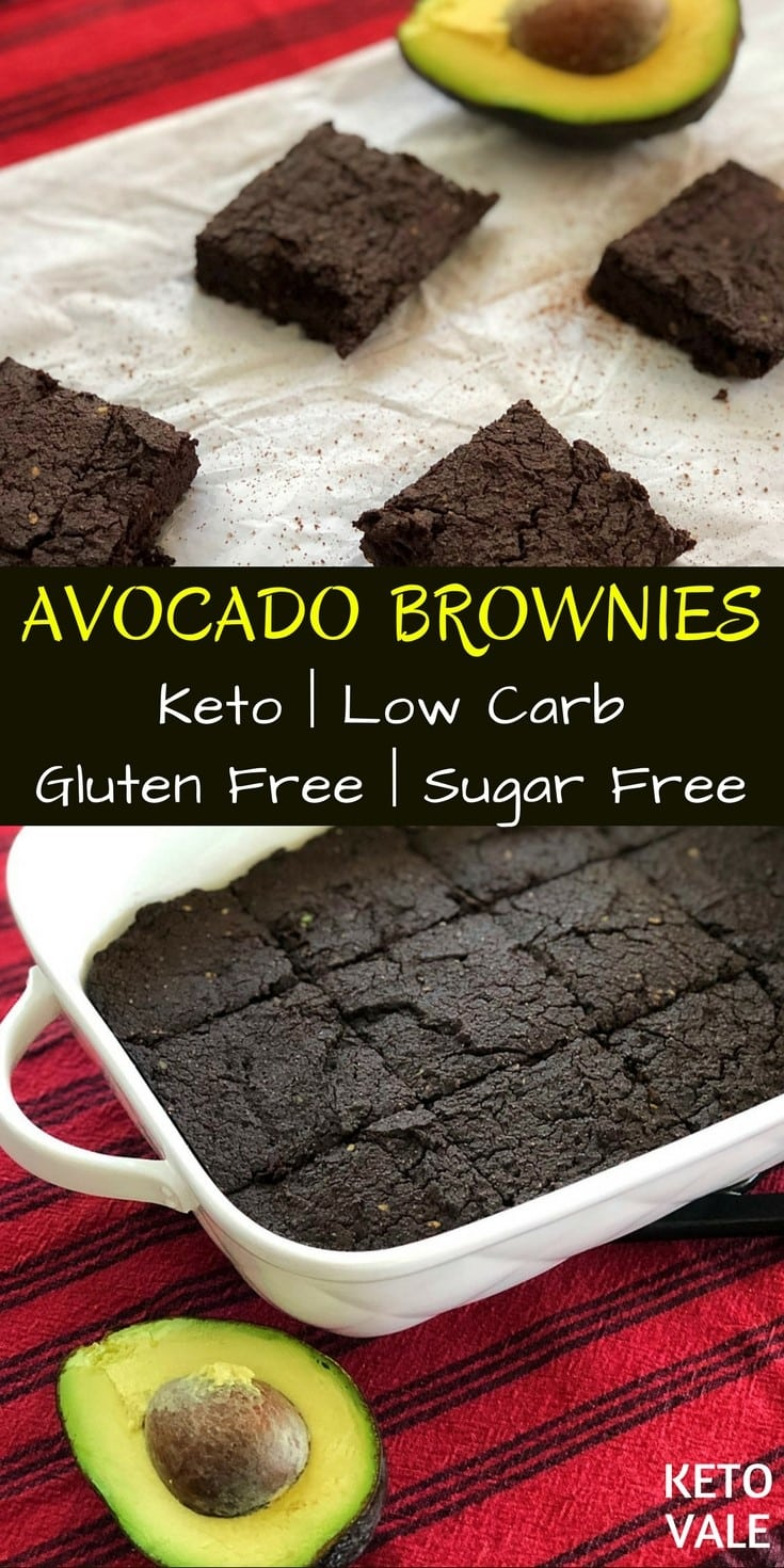 Low Carb Avocado Brownies