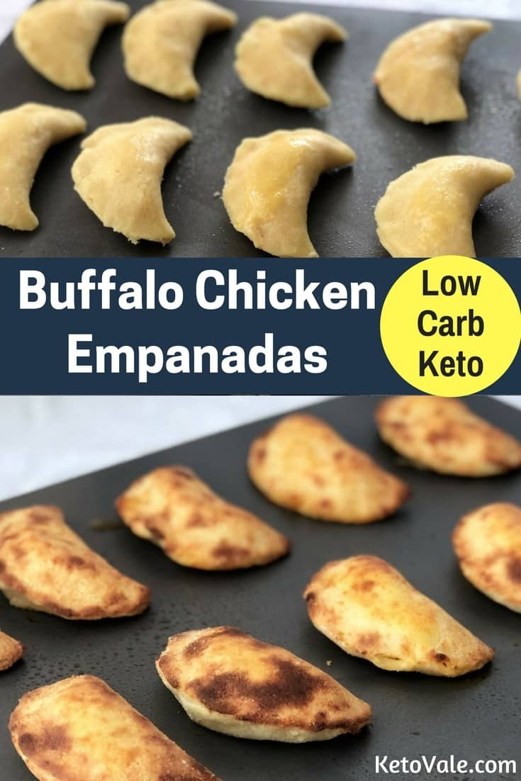 Tasty Low Carb Buffalo Chicken Empanadas for Keto Diet