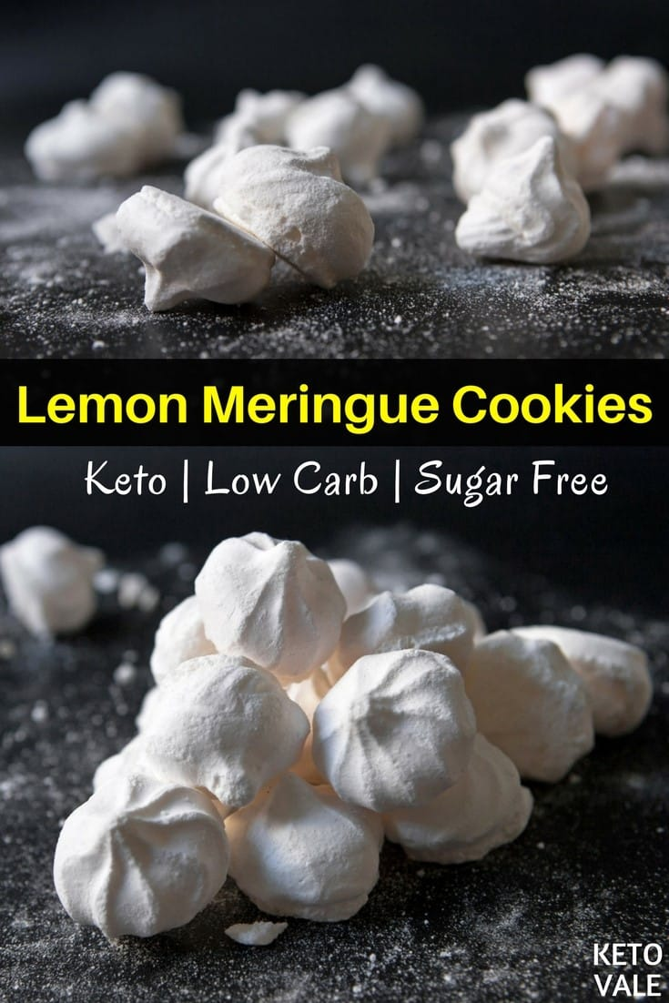 Low Carb Lemon Meringue Cookies