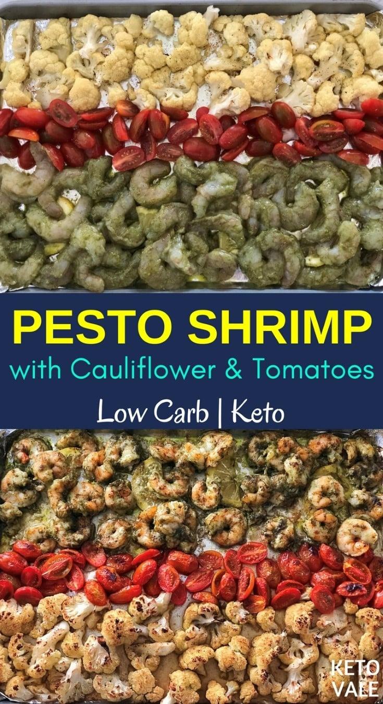 Keto Pesto Shrimp with Cauliflower Low Carb Recipe