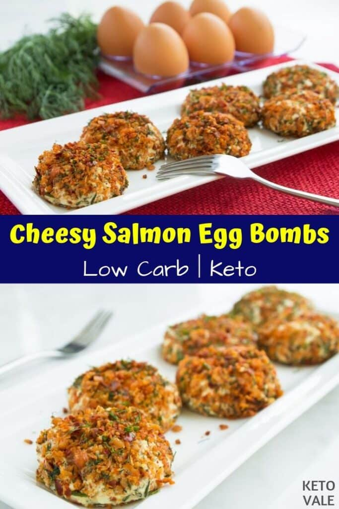 low carb salmon egg balls