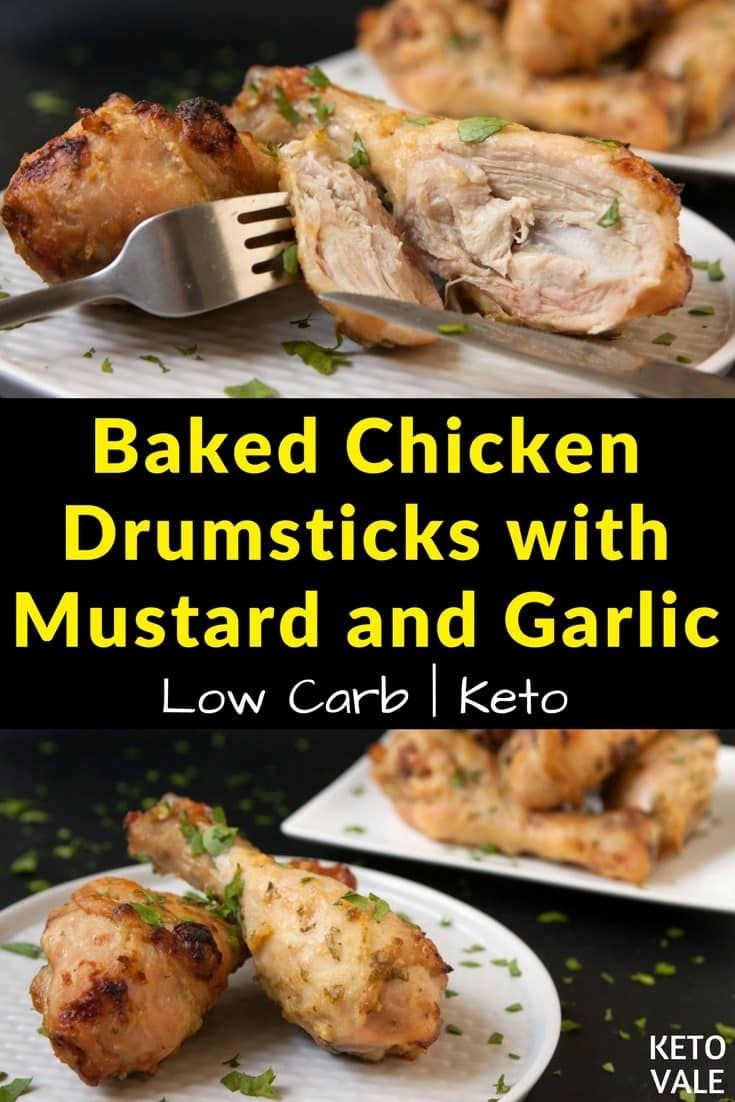 Baked Chicken Drumsticks with Mustard and Garlic