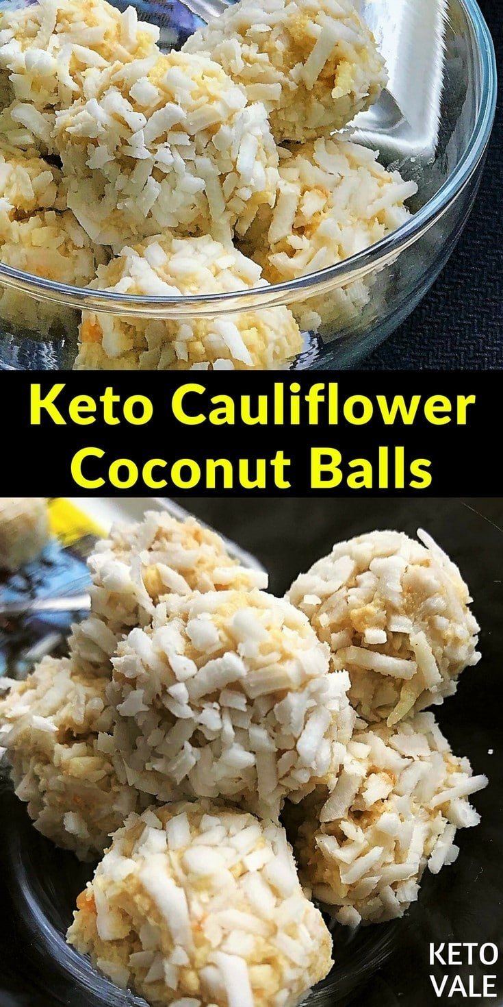 Cauliflower Coconut Peanut Butter Balls