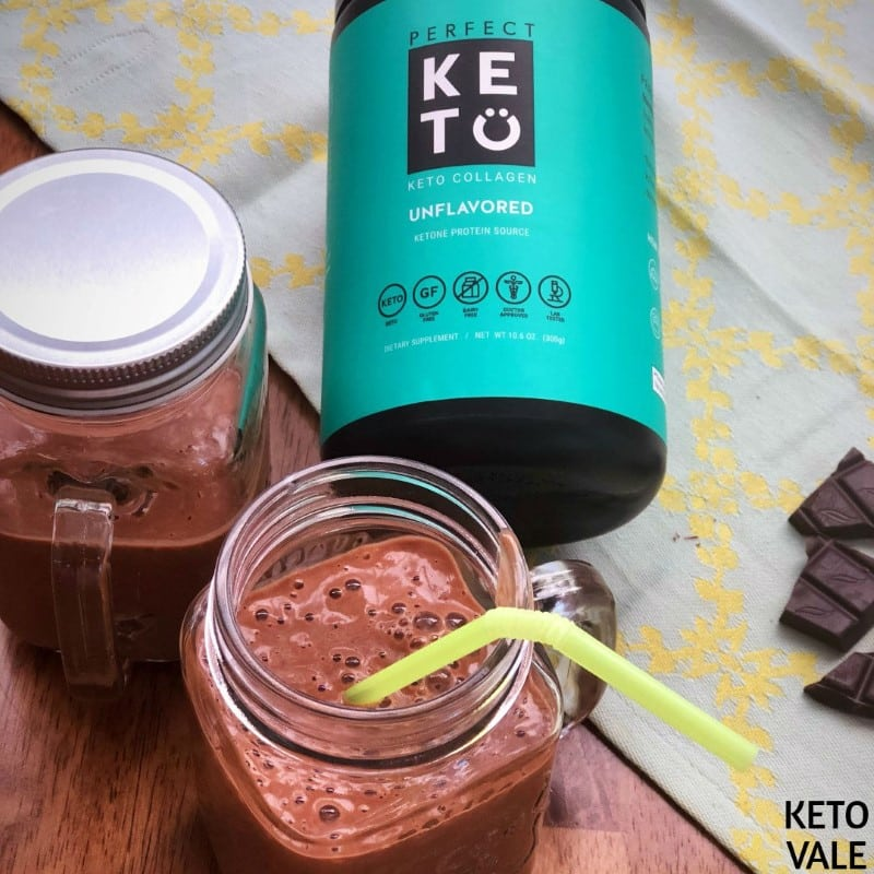 Keto Avocado Collagen Chocolate Smoothie