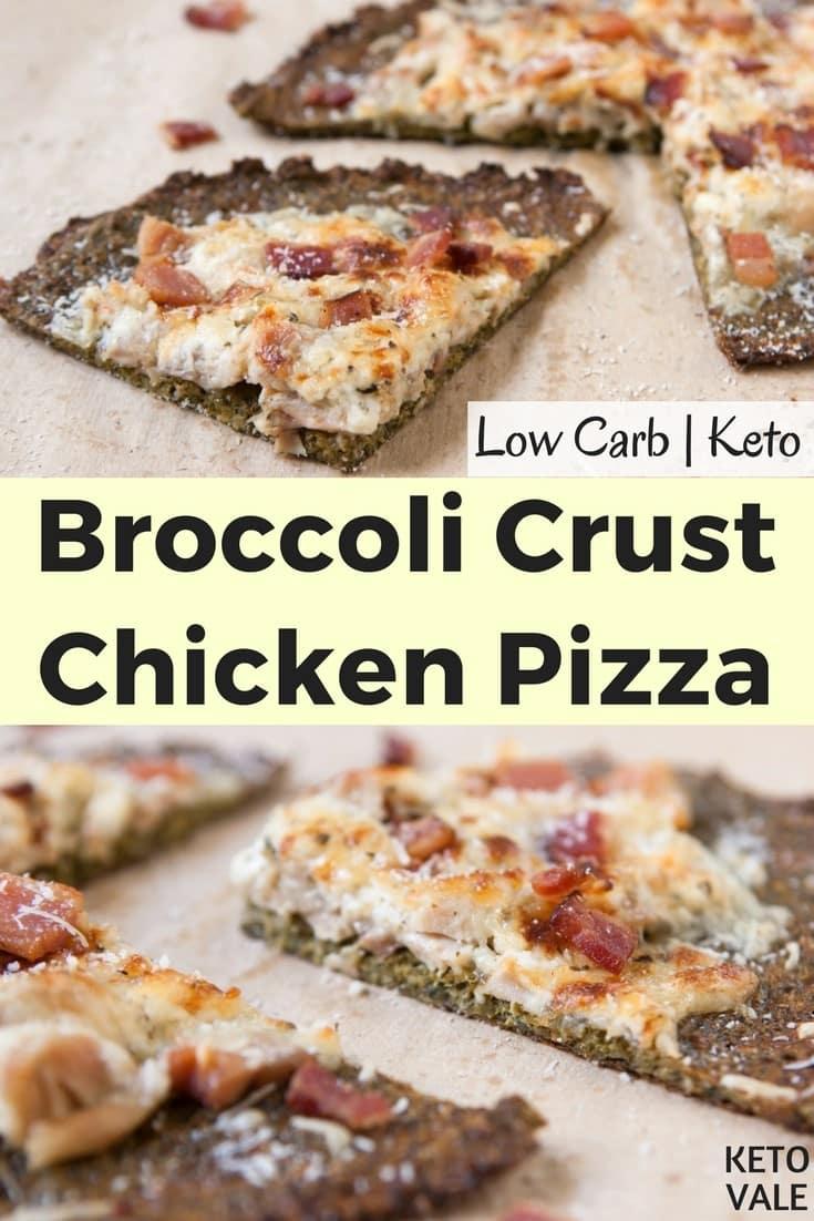 Keto Broccoli Crust Chicken Pizza