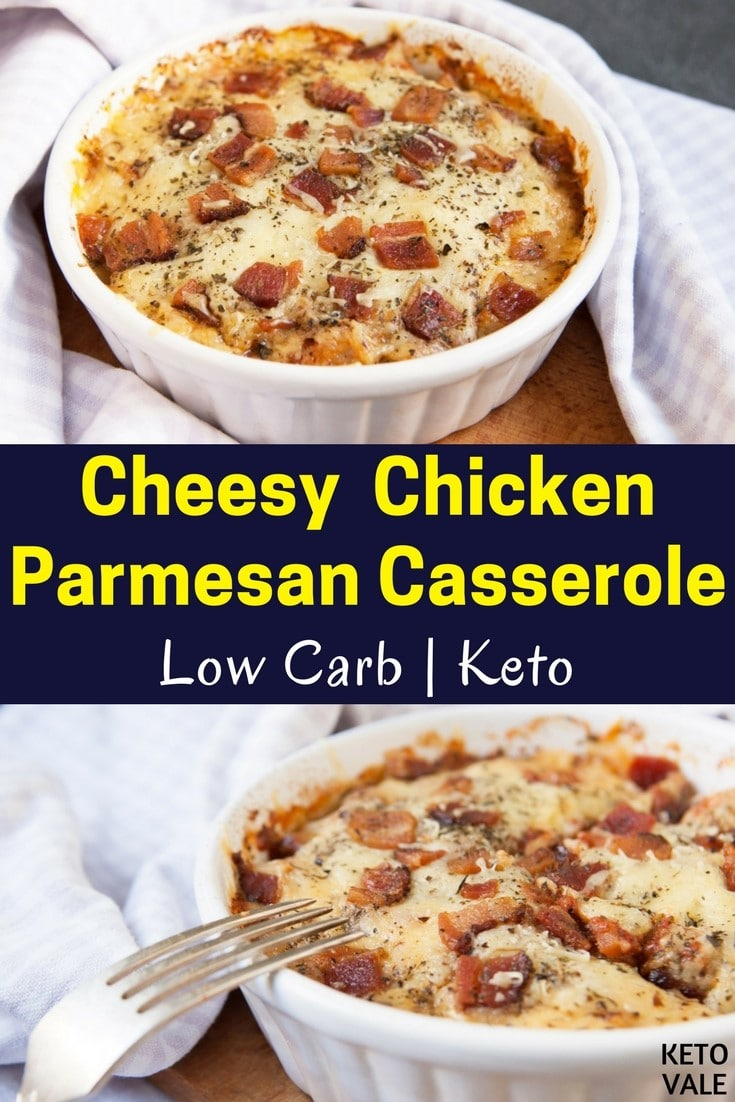 Keto Cheesy Chicken Parmesan Casserole Low Carb Recipe