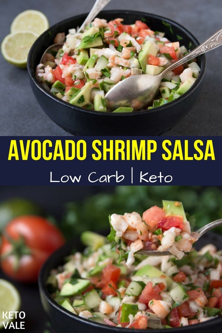Low Carb Avocado Shrimp Salsa