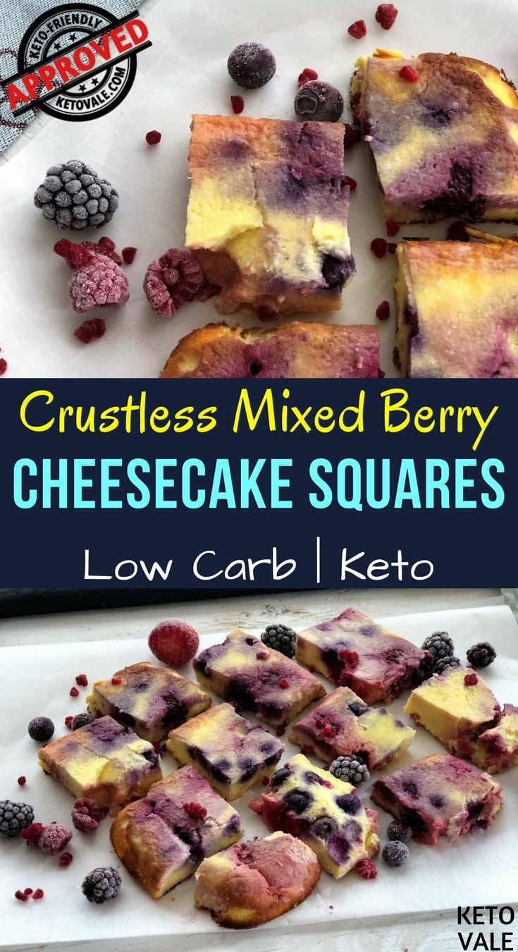 Low Carb Mixed Berry Cheesecake