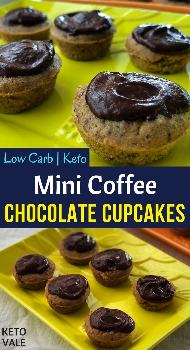 Mini Coffee Chocolate Cupcakes