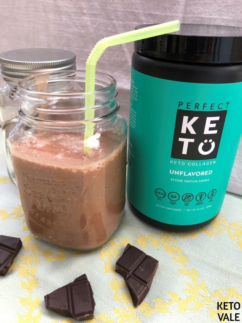Perfect Keto Collagen Chocolate Smoothie