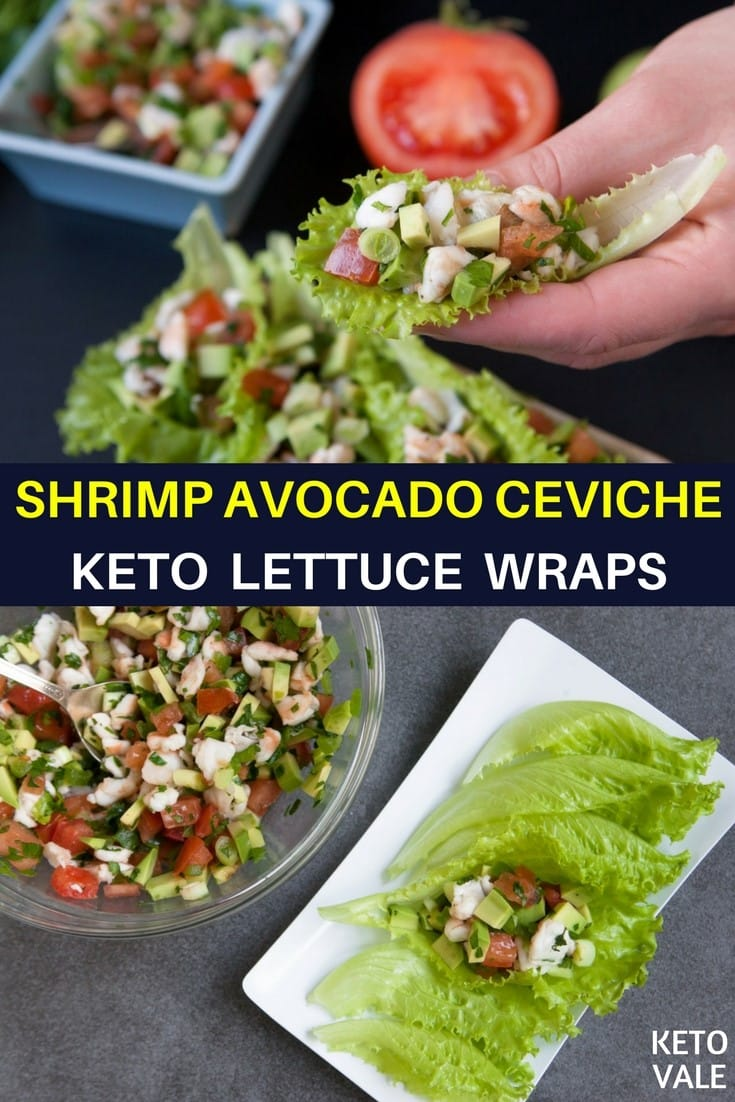 Shrimp Avocado Ceviche Lettuce Wraps