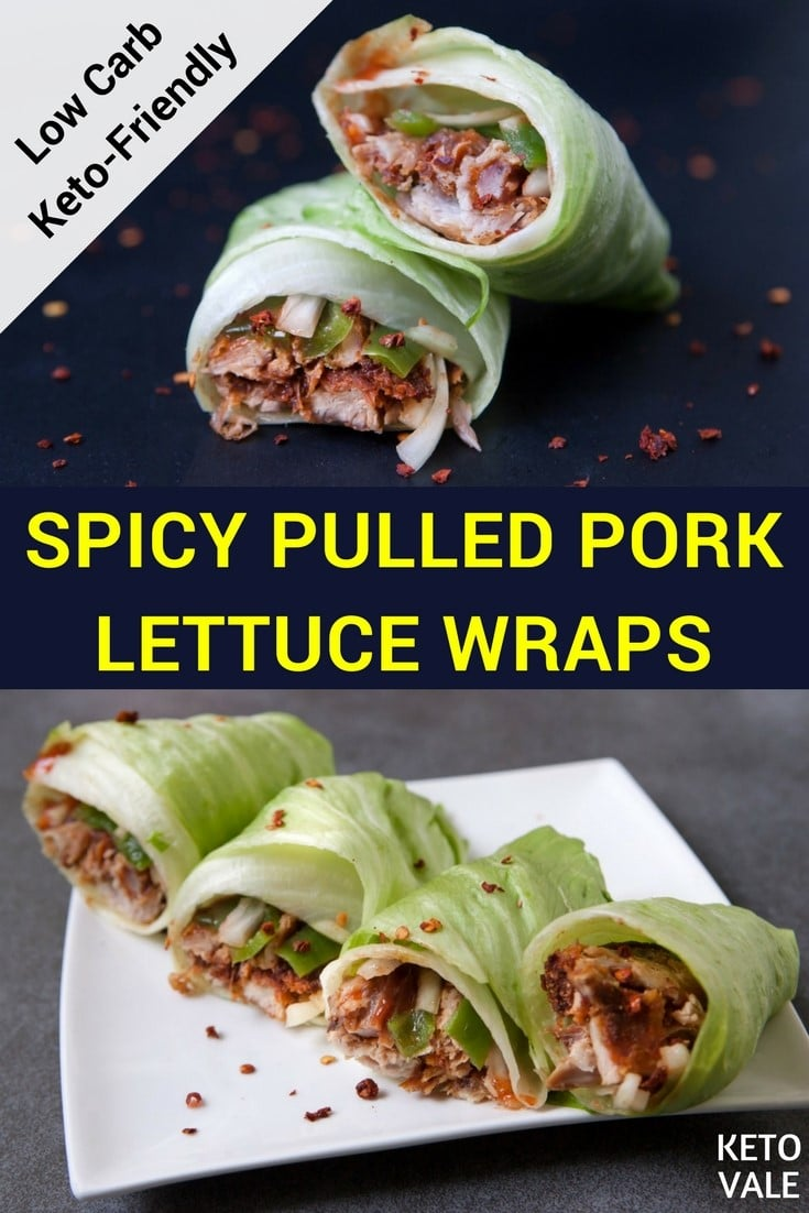 Spicy Pulled Pork Lettuce Wraps