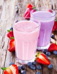 Berries Low Carb Milkshake