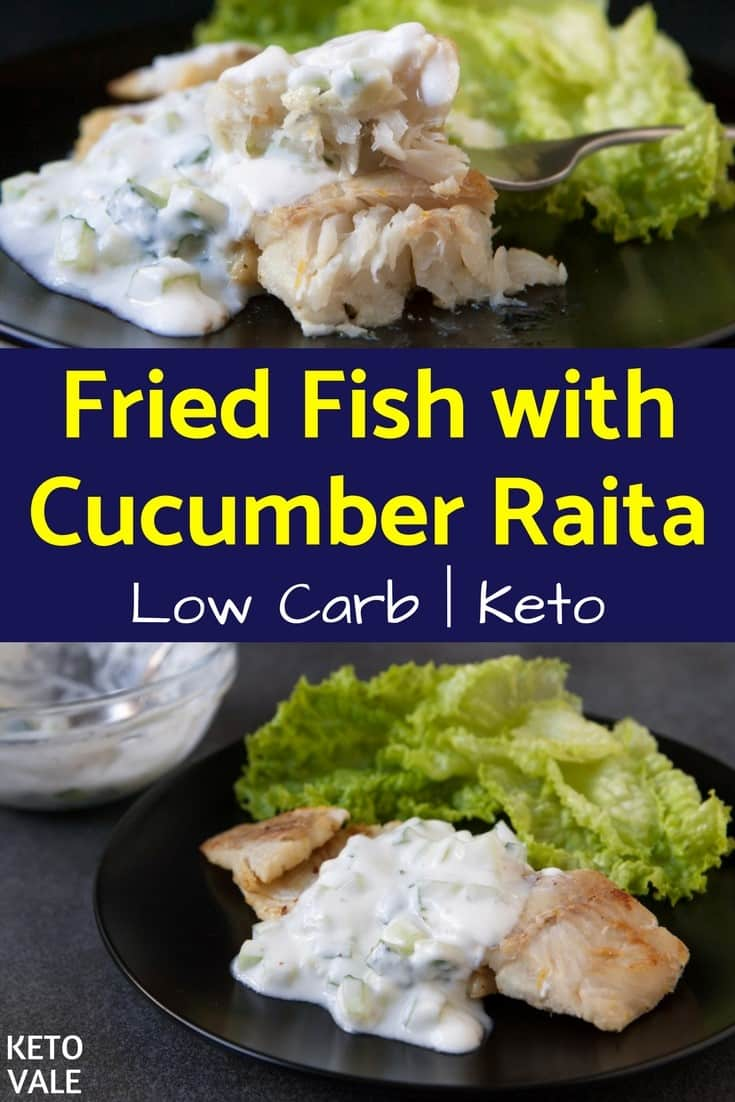 Fried Fish with Cucumber Raita Recipe