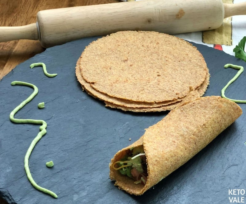 Gluten Free Flaxseed Tortillas