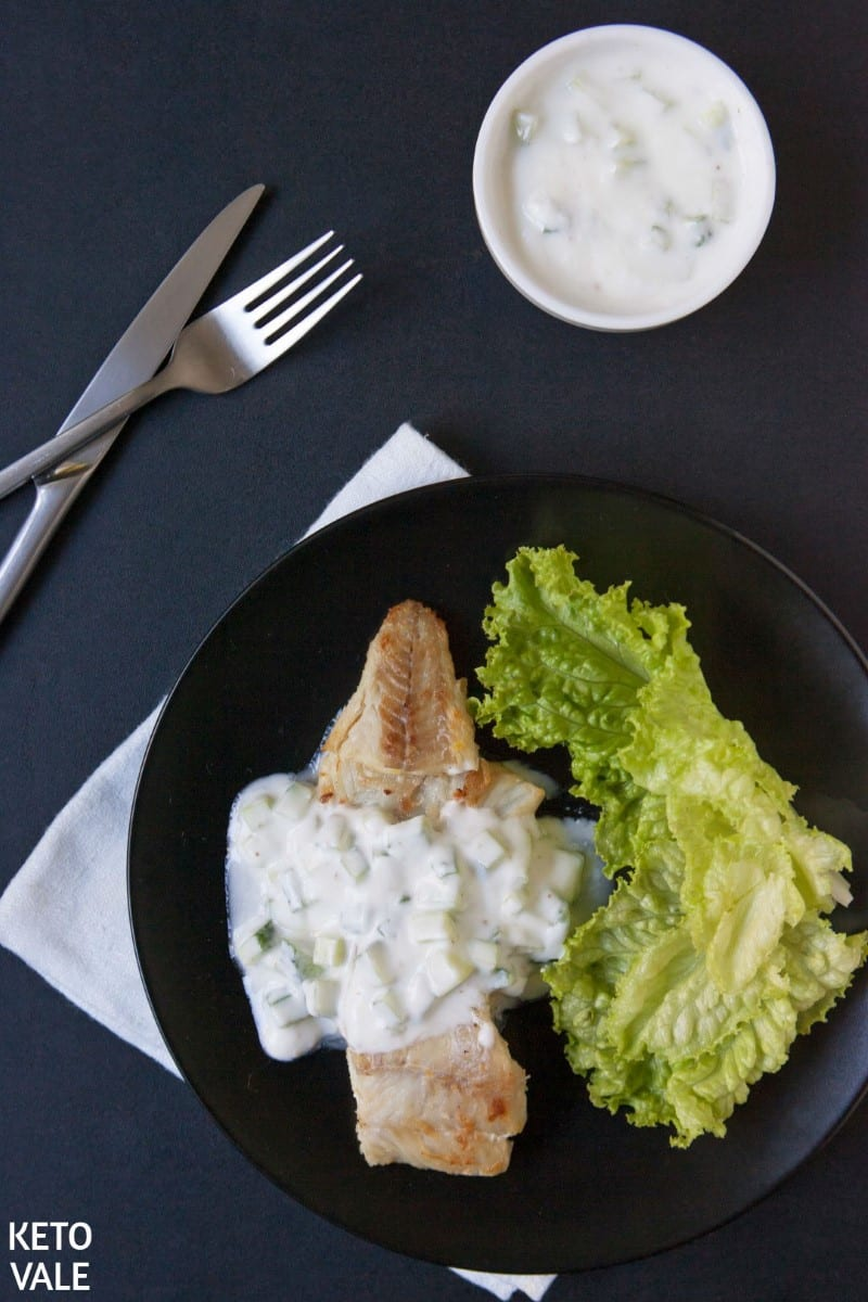 Keto Fried Fish with Raita