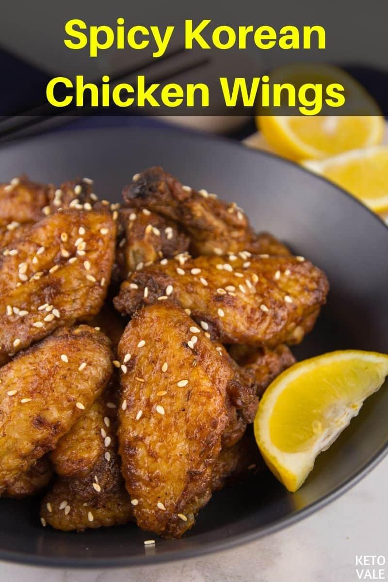 keto korean chicken wings