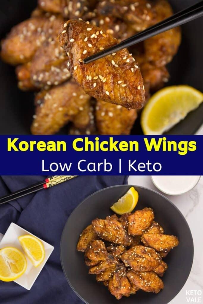 low carb korean chicken wings