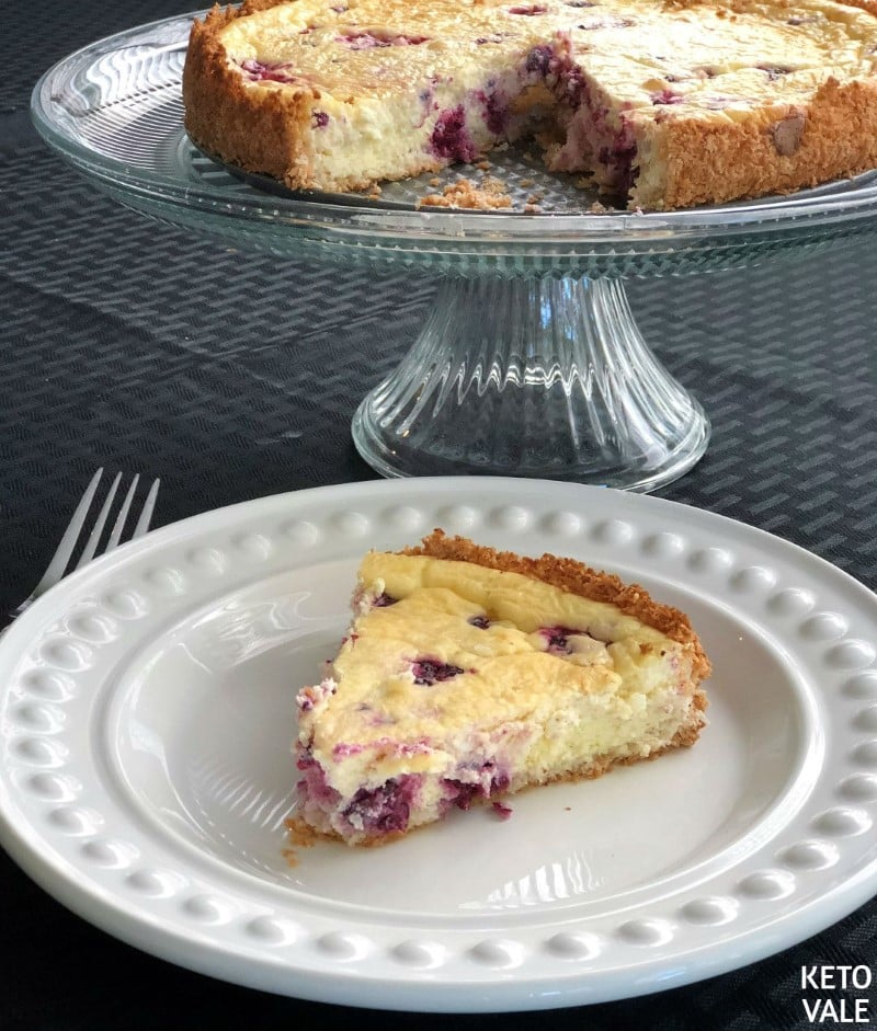 Coconut Crust Blackberry Cheesecake