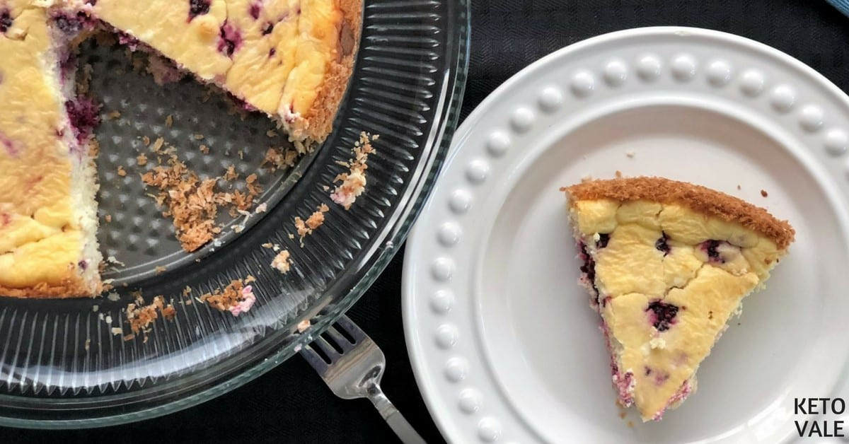 Keto Blackberry Cheesecake