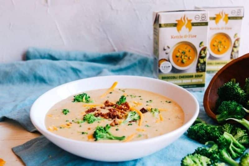 kettle and fire broccoli cheddar soup