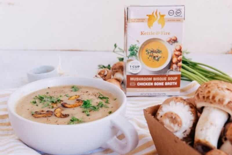 kettle fire mushroom bisque soup