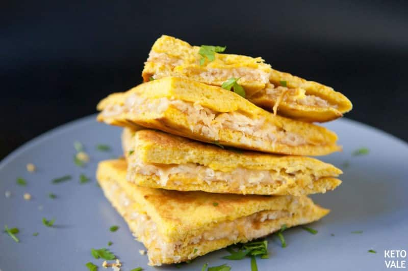 low carb chicken quesadillas