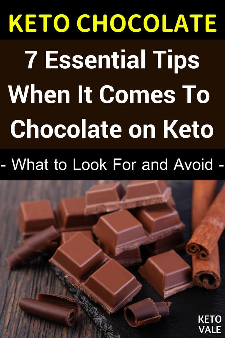 Chocolate Guide On Low Carb And Keto Diet Keto Vale