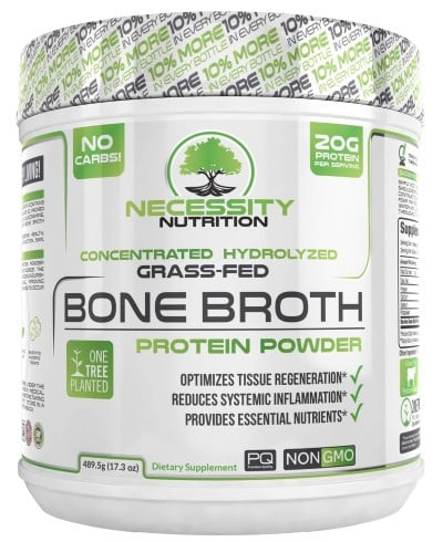 Necessity Nutrition bone broth