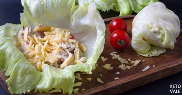 chicken bacon lettuce wraps