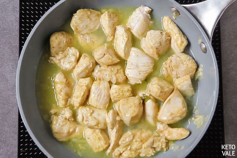 add bone broth heavy cream to chicken