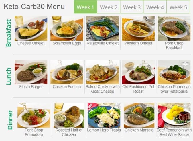 keto-carb30 menu