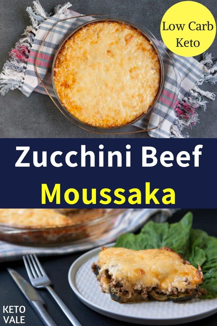 keto zucchini beef moussaka