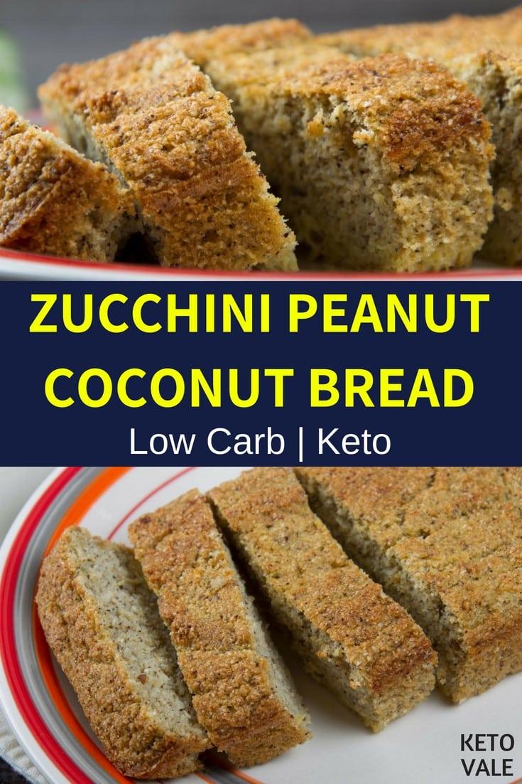 keto zucchini peanut coconut bread