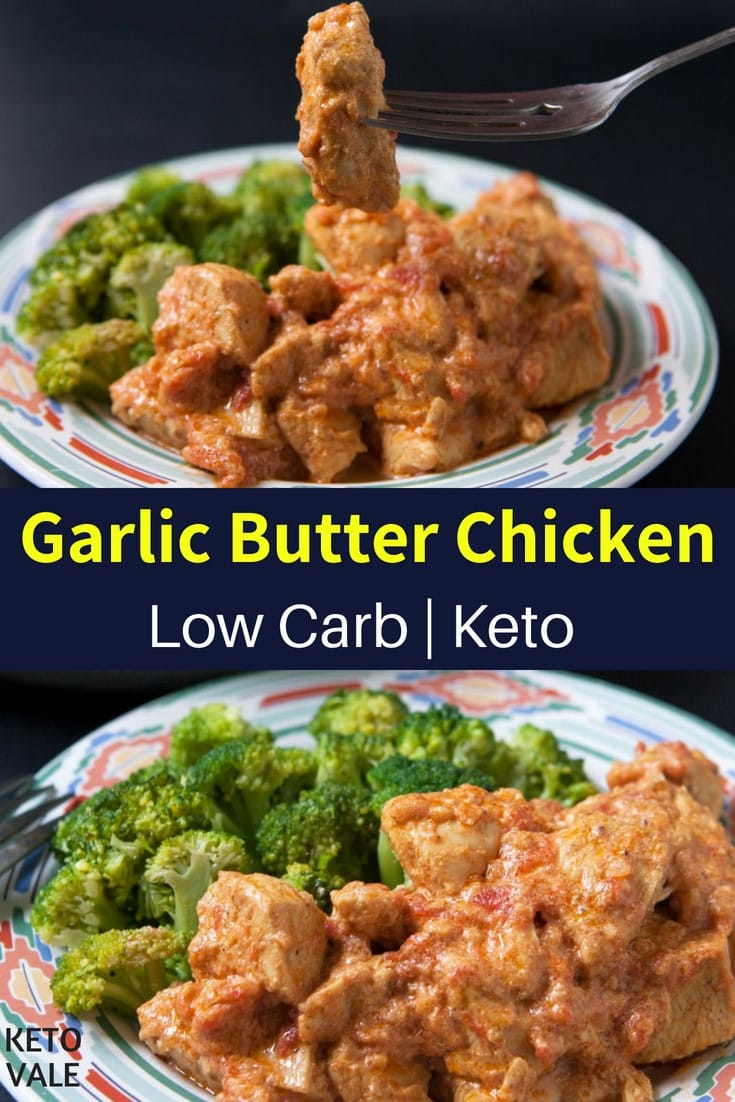low carb butter chicken breast