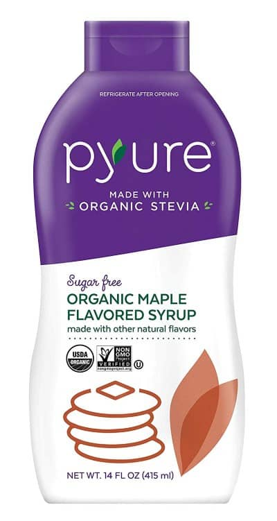 pyure maple flavored syrup