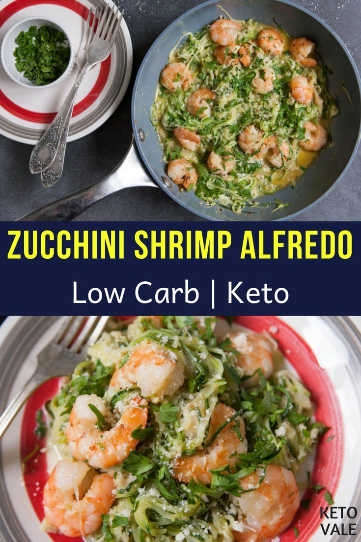 shrimp alfredo with zoodles