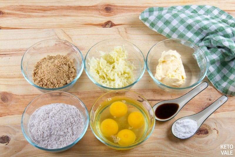 zucchini peanut ingredients