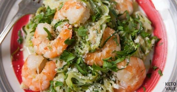 zucchini shrimp alfredo