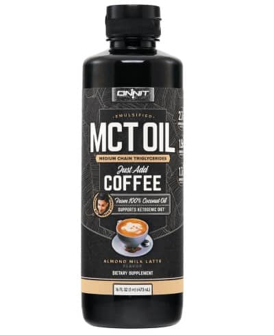 almond milk latte emulsified MCT oil
