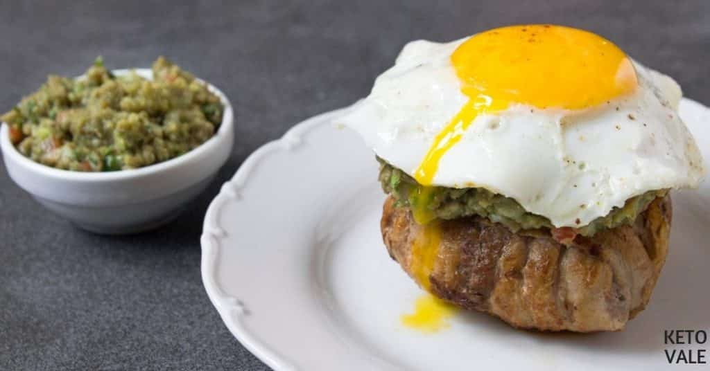 bacon egg guacamole burger