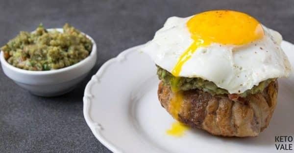 bacon egg guacamole burger