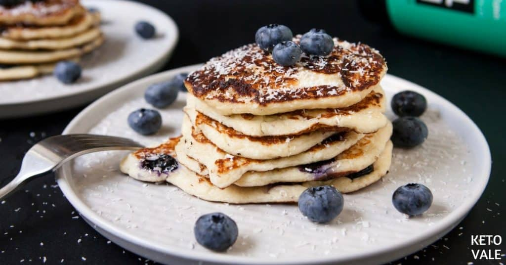 collagen protein blueberry pancakes