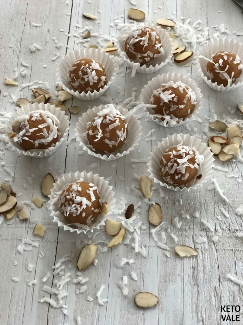 creamy vanilla MCT peanut butter balls